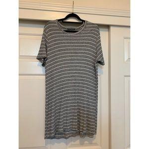RIBBED STRIPED T-SHIRT DRESS